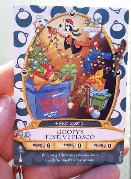 Mickey's Very Merry Christmas Party Sorcerer Card