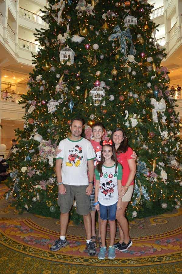 Get Christmas Picture taken in Grand Floridian