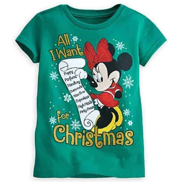 Shopping at Disney Store for Christmas Shirts