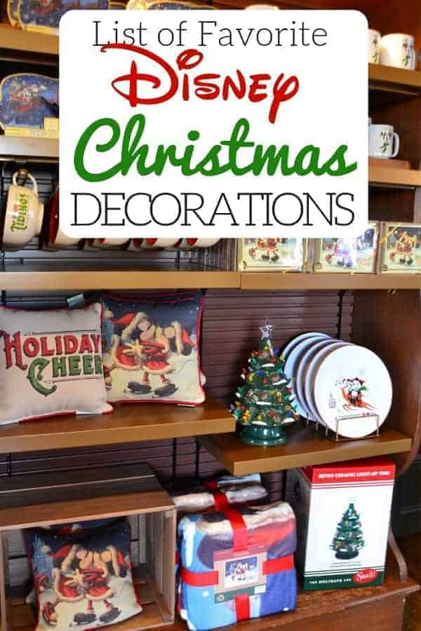 List of Favorite Disney Christmas Decorations