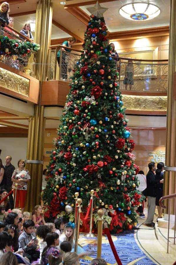 Christmas Tree in Atrium on Disney Cruise