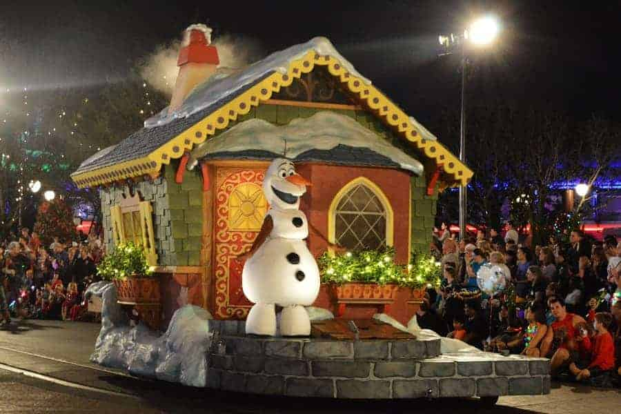 Christmas Parade at Disney Featuring Olaf