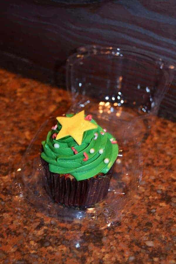 Mickey's Very Merry Christmas Party Christmas Tree Cupcakes