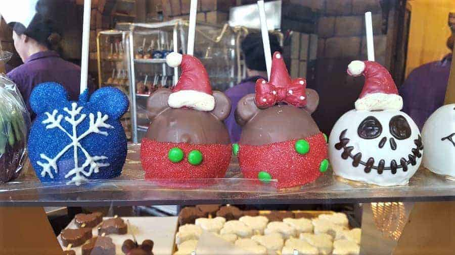Disney Christmas Candy Apples