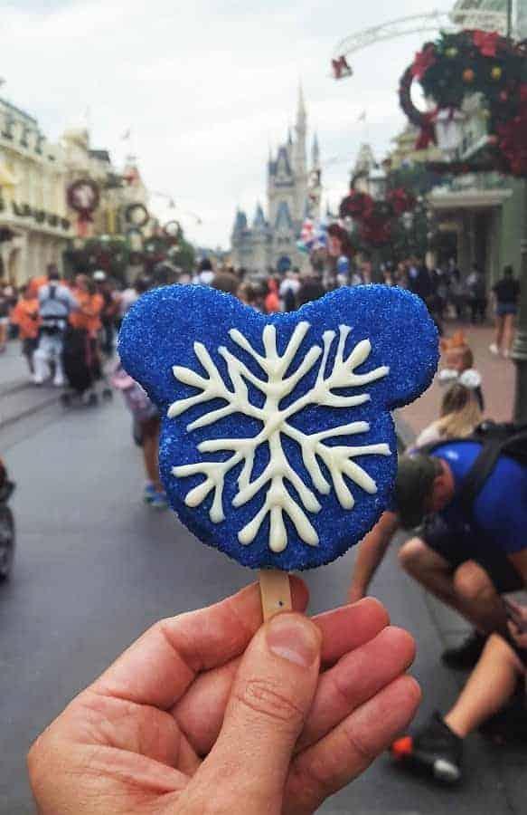 Mickey Mouse Snowflake Rice Krispy Treat
