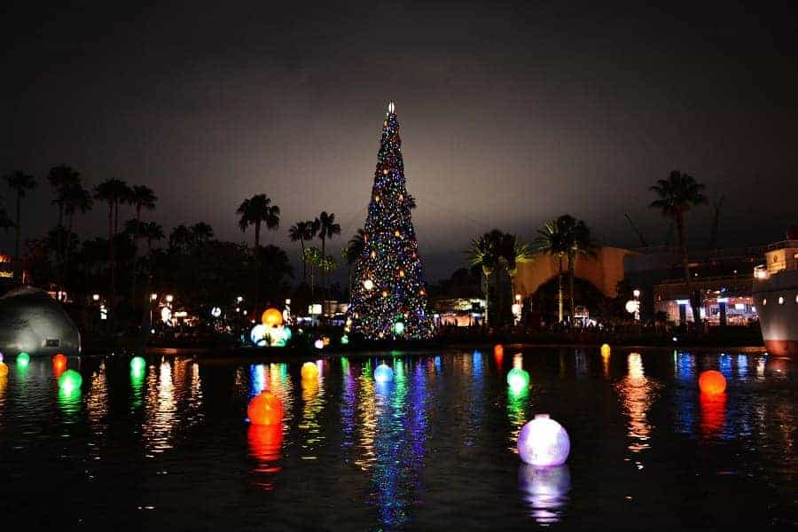 Echo Lake at Hollywood Studios during Christmas