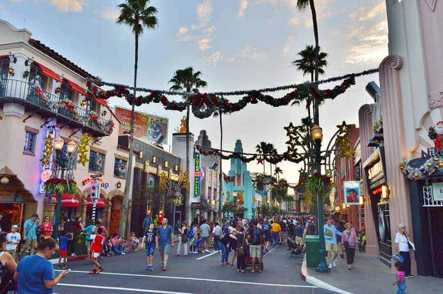 Hollywood Studios at Christmastime