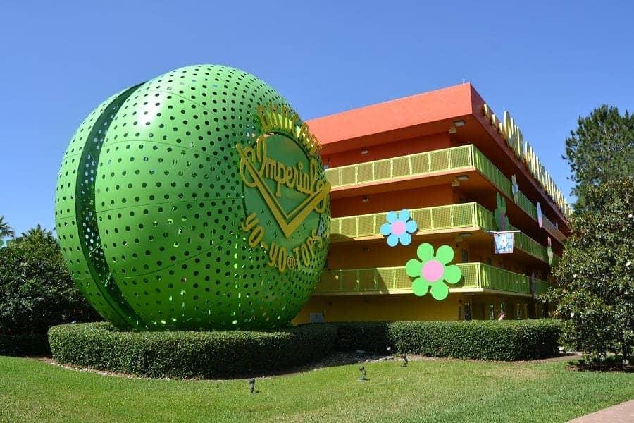 Disney Pop Century Building with Yoyo