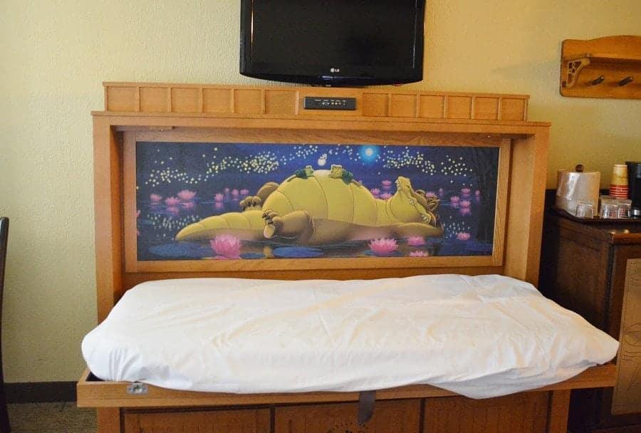 Hidden bed in Disney Port Orleans Royal Guest Room
