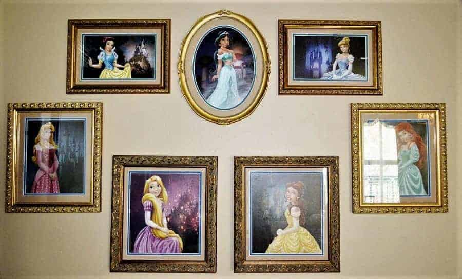 Royal Portraits in the Disney Port Orleans Royal Guest Room