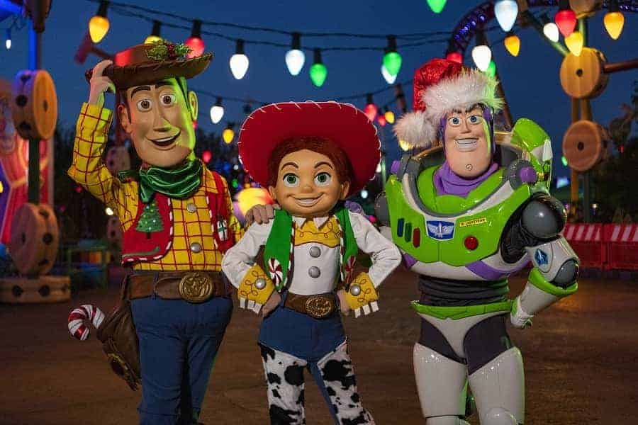 Toy Story Land Meet & Greet at Christmas