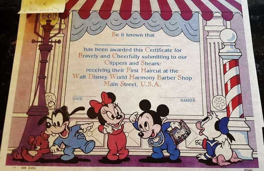 Babies First Haircut at Disney World