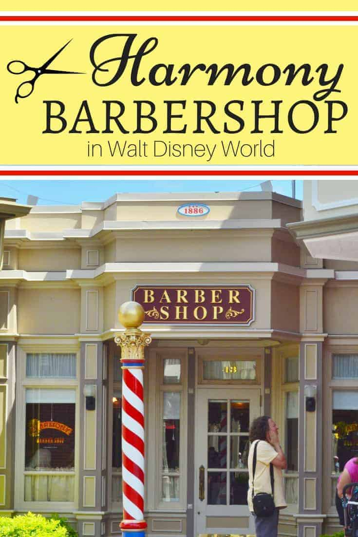 Getting a haircut at Harmony Barber shop in Magic Kingdom
