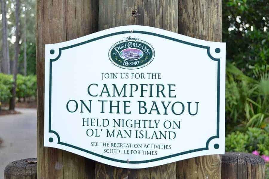 Campfire on the Bayou
