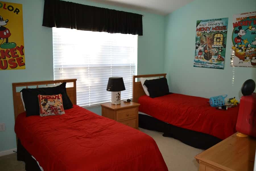 Mickey Mouse themed kids room