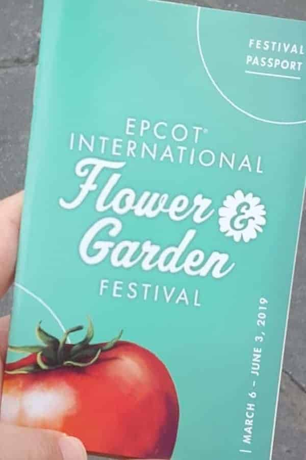 FREE Festival Passport for Epcot Flower & Garden Festival