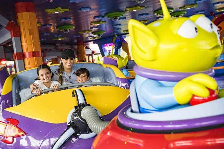 Alien Swirling Saucers in Toy Story Land