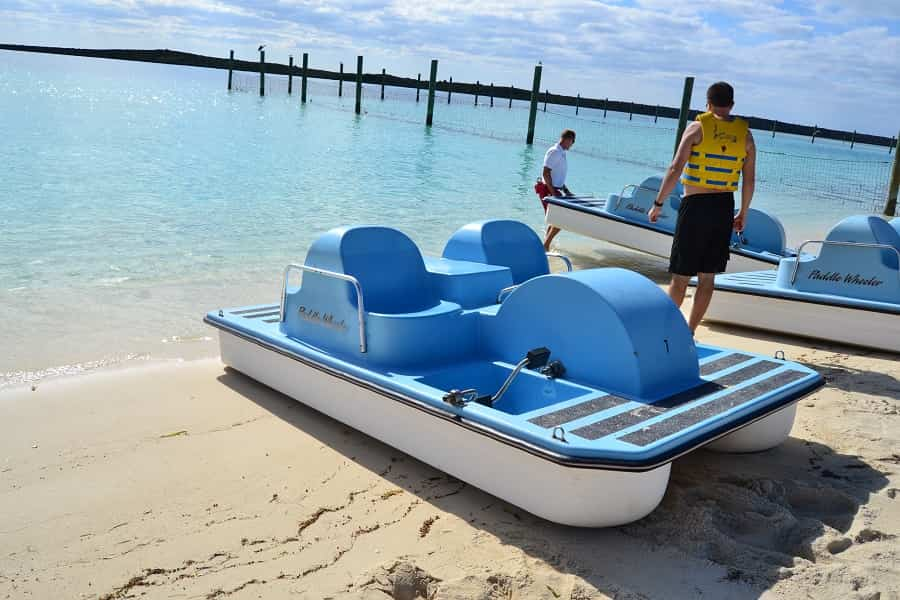 Paddle Boat Rentals in Castaway Cay