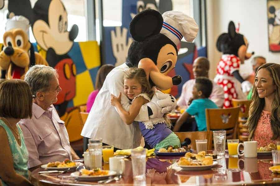 Meeting Mickey Mouse at Contemporary Resort