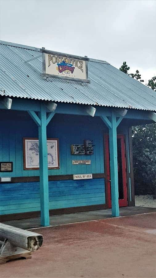 Post Office on Castaway Cay in Bahamas