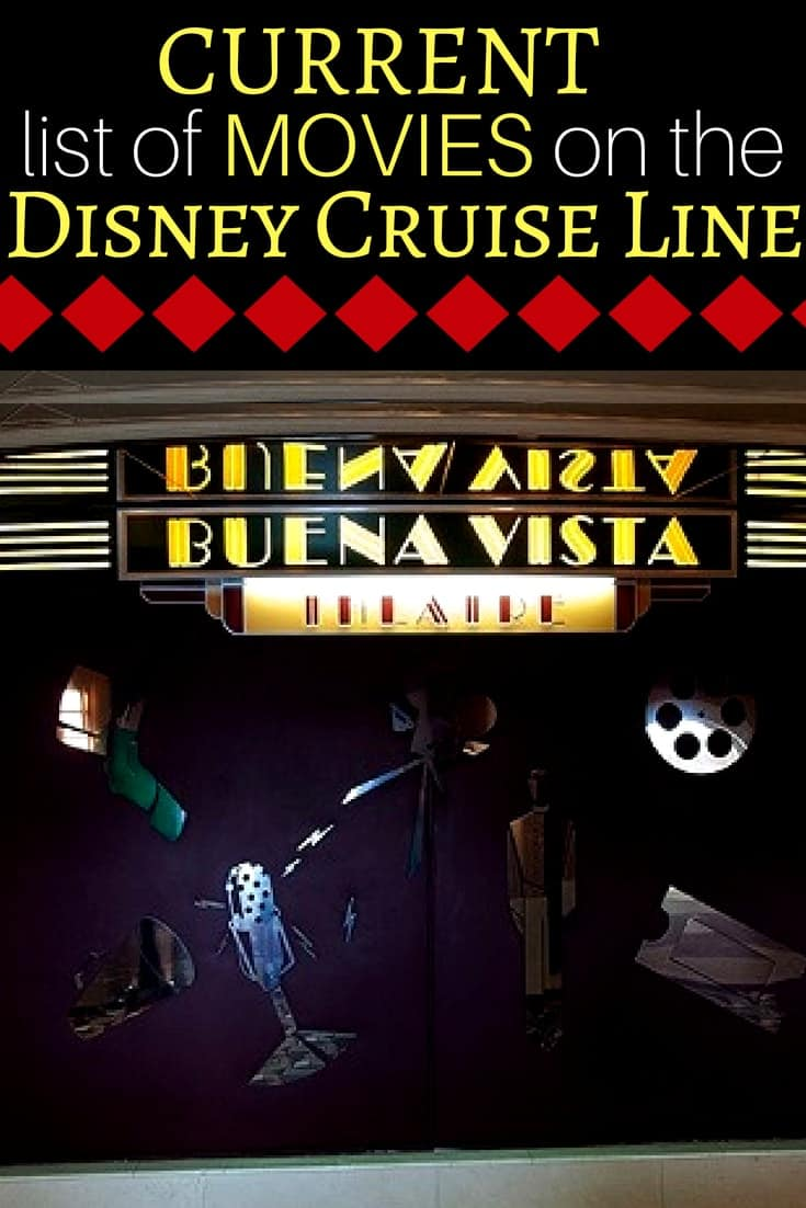 List of Current Disney Cruise Movies