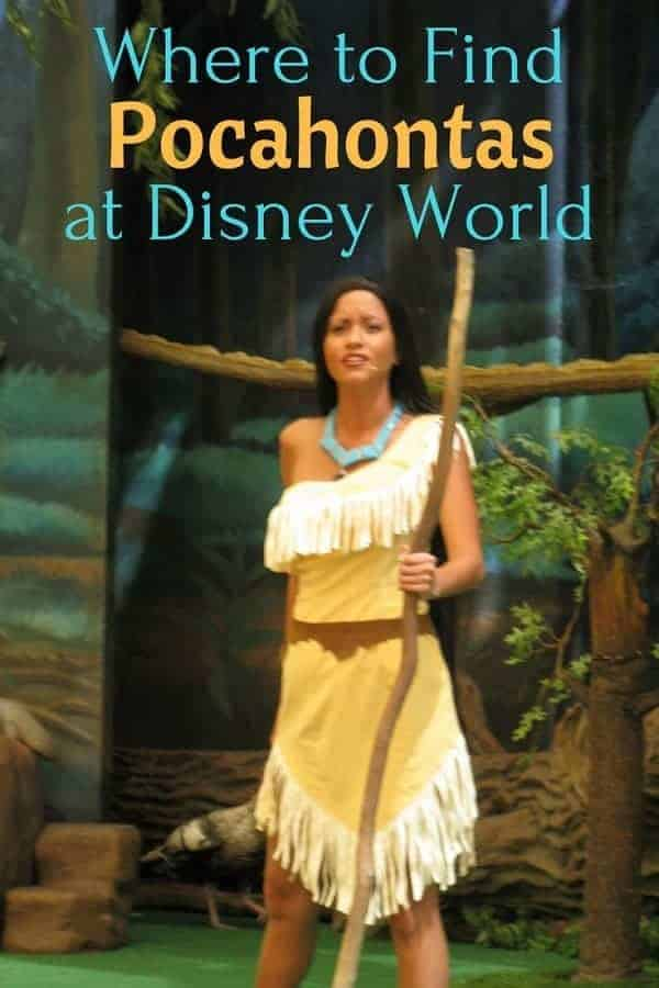 Where to find Pocahontas at Disney World