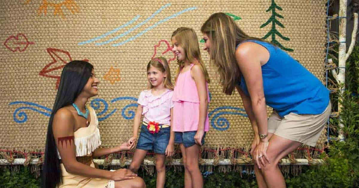 Pocahontas meet & greet
