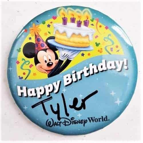 Birthday Button at Disney