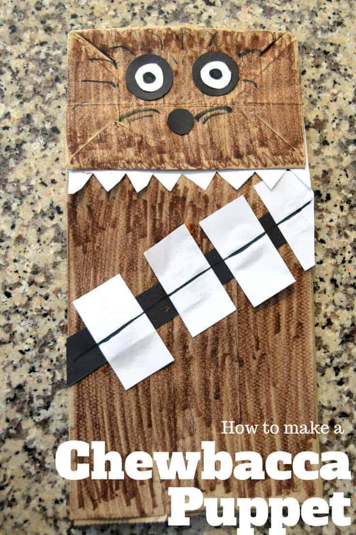 How to Make a Chewbacca Puppet Craft for May the 4th Star Wars Day