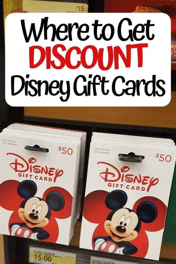 Where to Get Discount Disney Gift Cards