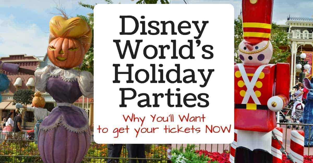 Tickets for Disney World Holiday Parties