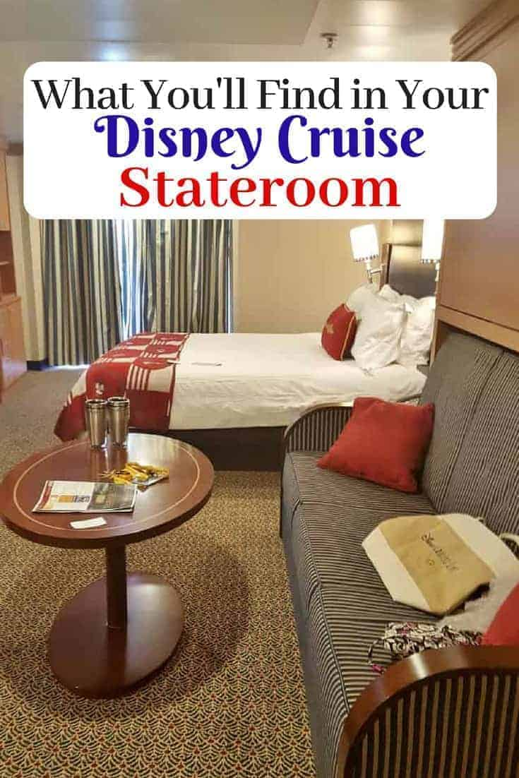 What You'll find in your Disney Cruise Stateroom