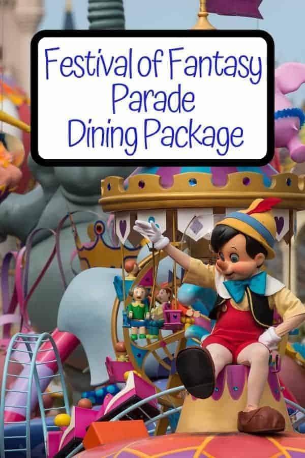 Disney Festival of Fantasy Parade Dining Package