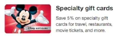 Discount Disney Gift Cards at Target