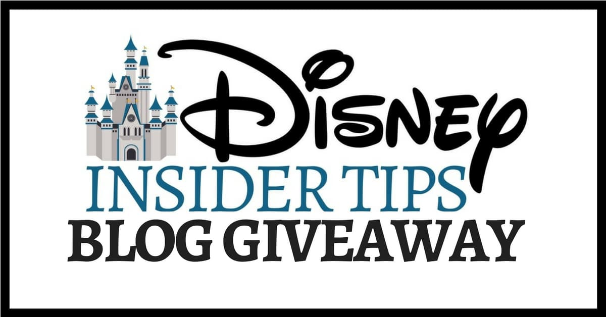 Disney Insider Tips Blog Giveaway