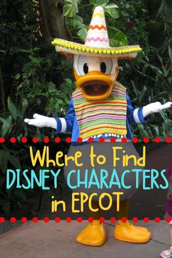 Where to Find Disney Characters at Epcot