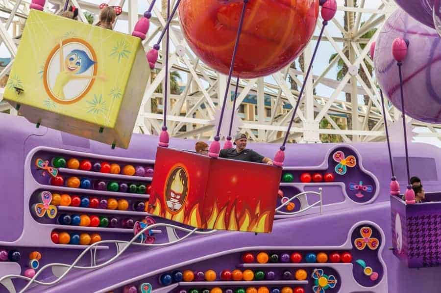 Inside Out Ride at PIxar Pier
