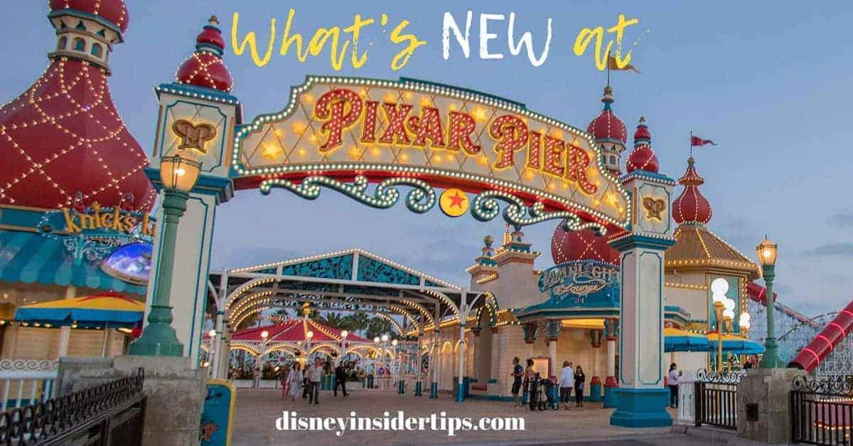 NEW at Pixar Pier at Disney California Adventure Park