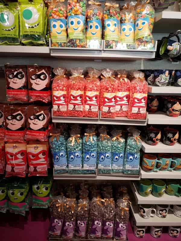 Pixar Prepackaged Treats & Souvenirs