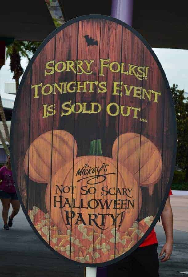 Mickey's Not So Scary Halloween Party Tickets are SOLD OUT