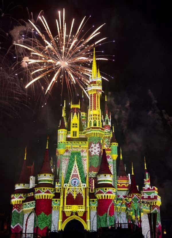 Disney Christmas Party Fireworks