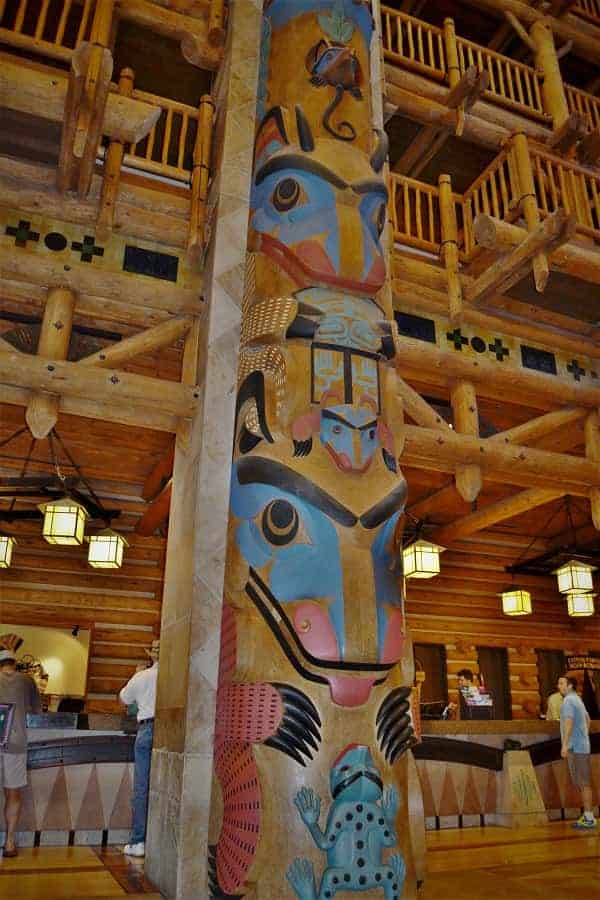 Totem Poles in Wilderness Lodge