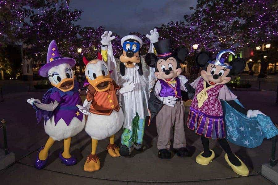 Disney Characters dressed for Halloween