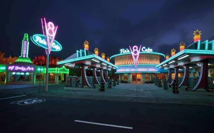 Flo's Diner in Cars Land