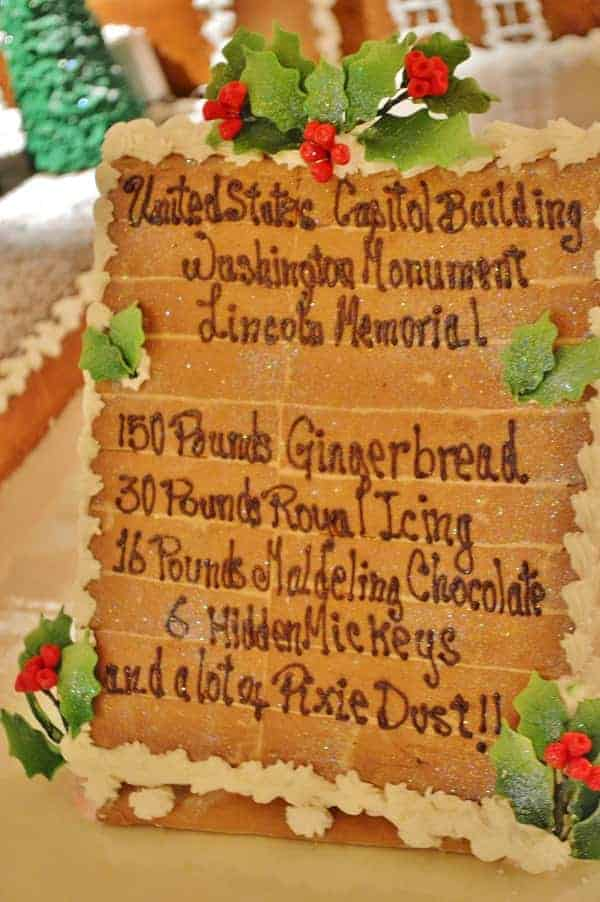 Gingerbread Capitol Ingredients
