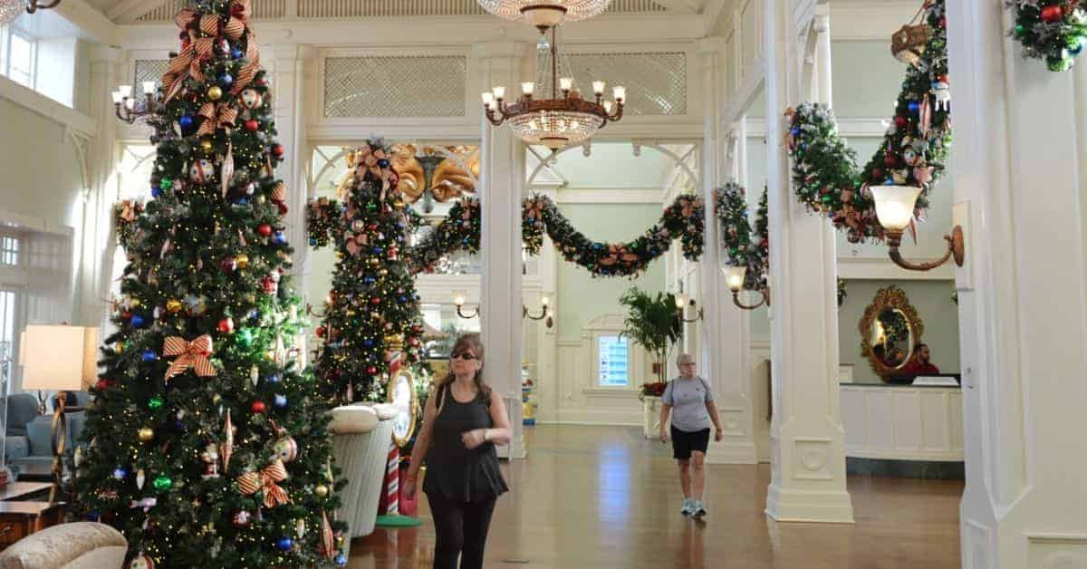 Inside DisneY Resorts at Christmas