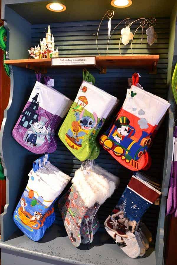 Disney Stockings at Ye Old Christmas Shoppe