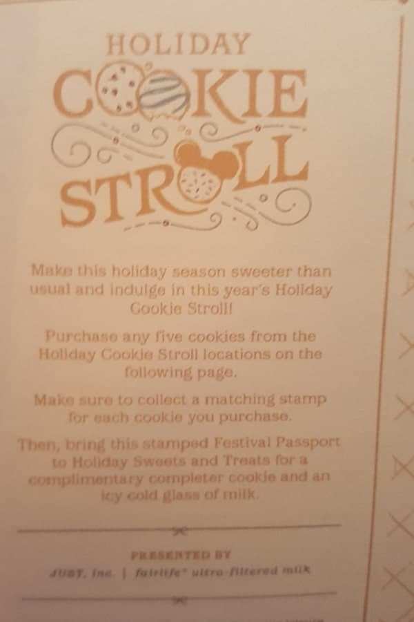 Epcot Holiday Cookie Stroll