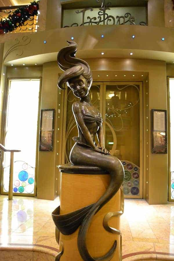 Disney Wonder Mermaid Statue on the Disney Wonder