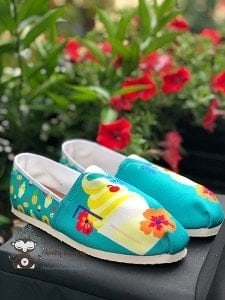 Dole Whip inspired shoes